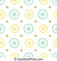 seamless fruit with gold dot flitter pattern background