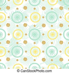 seamless fruit with gold dot glitter pattern background