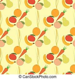 Seamless fruits pattern