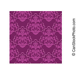 Seamless fuchsia floral wallpaper or wrapping paper. This...