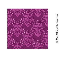 Seamless fuchsia floral wallpaper