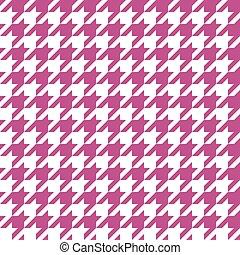 Seamless fuchsia houndstooth pattern