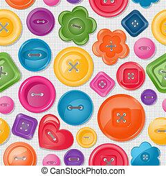 seamless, fundo, com, coloridos, botões