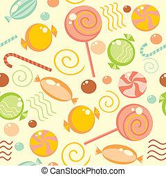 seamless, fundo, com, multi-coloured, doce