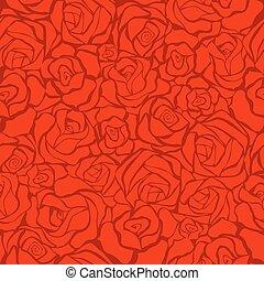 seamless, fundo, com, rosas