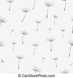 seamless, fundo, dandelion