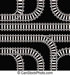 seamless, fundo, de, estrada ferro