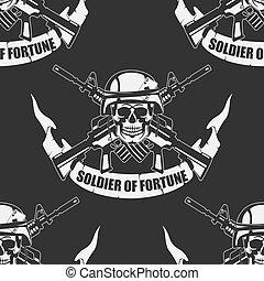 seamless, fundo, exército
