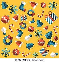 seamless, fundo, feliz natal