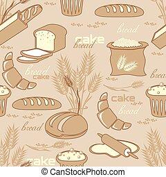 seamless, fundo, pão