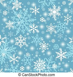 seamless, fundo, snowflake