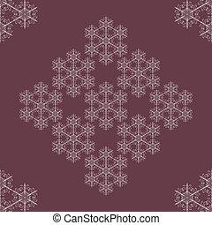 seamless, fundo, snowflakes