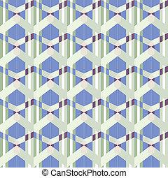 chunky geometric bits in blues and greens