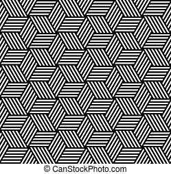 seamless, géométrique, op, art, pattern.