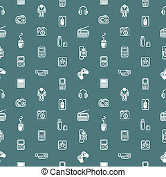 Seamless gadgets background texture - A repeating seamless ...