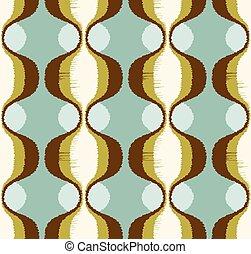 seamless, garabato, ornamento, patrón