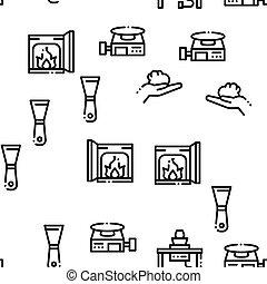 seamless, garncarstwo, wektor, ceramika, próbka