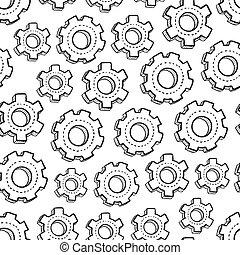 Seamless gear background