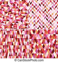 seamless, geométrico, rosa, patrón