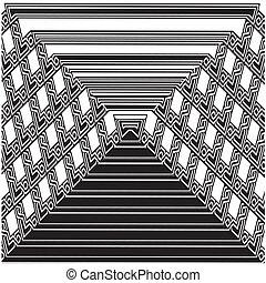 seamless, geometriai, fekete-fehér