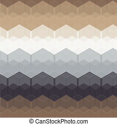 Seamless Geometric Abstract Pattern from Hexagon Intersections