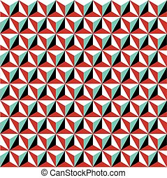 Seamless geometric Art Deco background pattern