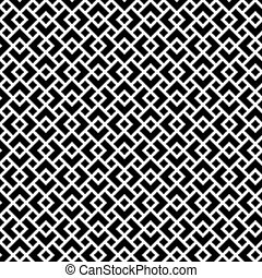 Seamless geometric art deco overlap pattern background