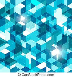 Seamless geometric background in blue. Abstract vector pattern.