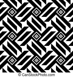 seamless geometric black and white pattern
