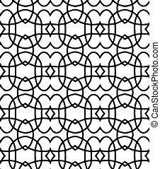 black pattern on white background