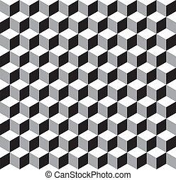 Seamless Geometric Cube Pattern