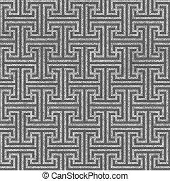 Seamless geometric key pattern