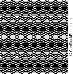 Seamless geometric op art pattern. Vector art.