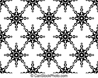 Seamless geometric ornament. Black pattern on a white background. Vector illustration