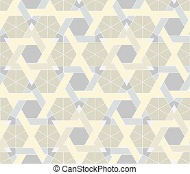 Seamless geometric pattern based on Arabic ornaments. Abstract geometric background in light pastel colors