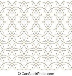 Seamless geometric pattern, Circle pattern line, Monochrome elements vector