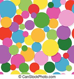 Seamless geometric pattern circles