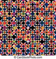Seamless geometric pattern, colorful ver. - Seamless...