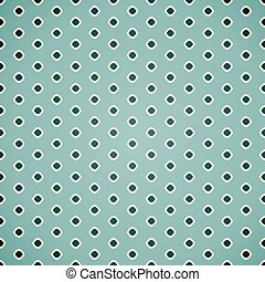 Seamless geometric pattern in retro colors on blue background