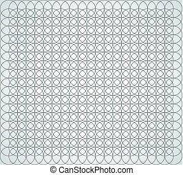 Seamless geometric pattern of circles on a white background