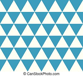 Seamless geometric pattern of isometric triangles. Abstract vector background in blue and white