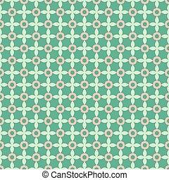 Seamless geometric pattern on a green background