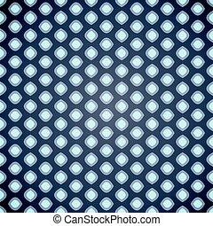 Seamless geometric pattern on dark blue background