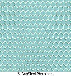 Seamless geometric pattern on light blue background