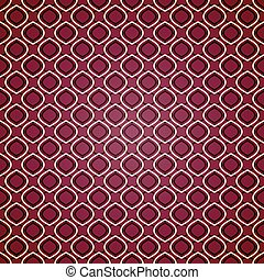 Seamless geometric pattern on purple background