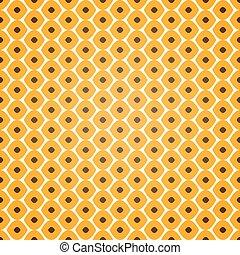 Seamless geometric pattern on yellow background
