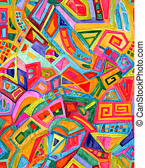 Seamless geometric pattern - Seamless abstract geometric...