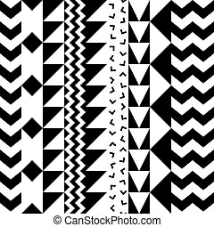 Seamless geometric pattern. Repeating ethnic ornamental...