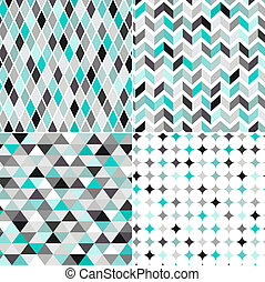 seamless geometric pattern - seamless turquoise geometric ...