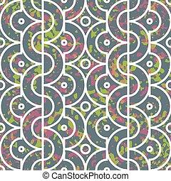 Seamless geometric pattern with half circles